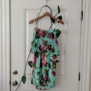 Open back floral dress